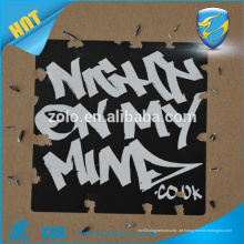 Ultra zerstörbare Vinyl Etiketten Eierschalen Aufkleber