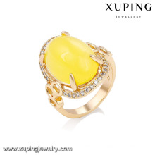 14727 xuping jewelry 18k gold plated 2018 fashion design gold finger ring for women
