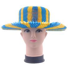 Модная ковбойская шляпа Красочная летняя шляпа