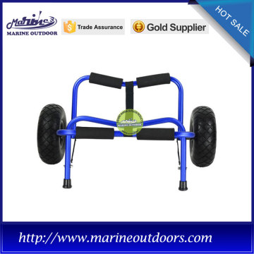Foldable beach cart, Aluminium cart for kayak, Anodized boat beach cart