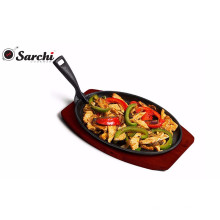 Wholesale Pre-seasoned cast iron sizzling plate