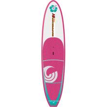 Placa de surf inflável das mulheres na água para o entretenimento