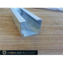 Trilho de cortina e haste de inclinação para persiana com revestimento em pó na cor branca