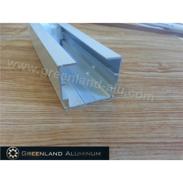 Riel de cortina y barra de inclinación para persiana de ventana con recubrimiento en polvo de color blanco