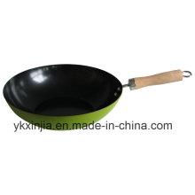 Кухонная посуда Green Carbon Steel с антипригарным покрытием Wok