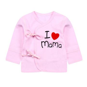 I Love Mama Newborn Baby Cotton Monk Clothing Coat