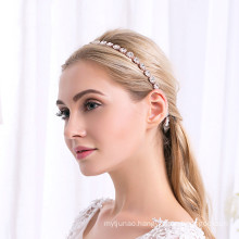 Rhinestone Elastic Headband Wedding Bride For Women Girls Luxury Hair Accessories Korean Baroque Hairband Feast Party Birthday
