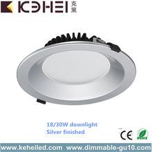 30W 8 Inch Black White Silver recessed Downlights