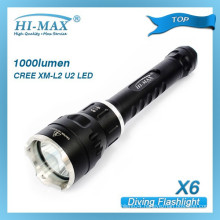 HI-MAX best selling 200m irradiation lotus attack head water proof flashlight