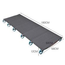 Aluminium Alloy Metal Frame Outdoor Camping Hiking Fishing Folding Lightweight Single Camp Bed