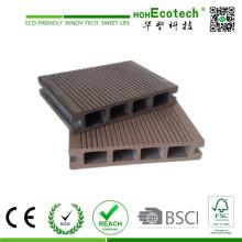 Im Freien hohler zusammengesetzter Decking-Brett-Bambusfußboden-Plastikbelag