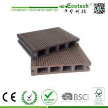 Decking plástico de bambu do revestimento composto oco exterior da placa do Decking