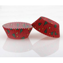 The Christmas tree design baking cup