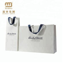 Factory Wholesale Price Ribbon Handle Custom Printed Paper Bags with Your Own Logo for Shops