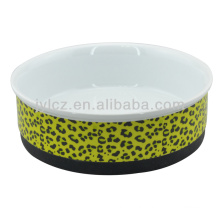 ceramic pet product with silicone base