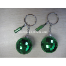 2016 Green Color Crystal ball keychain