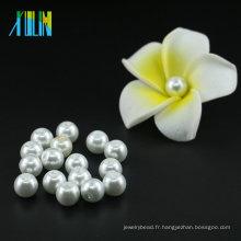 Vente en gros le plus chaud vente 3mm à 16mm UA01 XULIN Pure couleur blanche ronde perles de verre perles