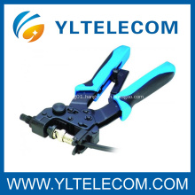 Coaxial Interchangeable F/BNC/RCA Connector Crimping Tools