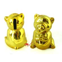 Керамическая золотая свинья монета Box игрушка