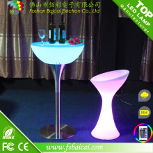 LED Iluminado Bar Cocktail Mesa / Modern LED Bar Mesa com controle remoto