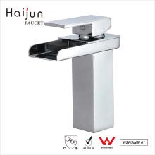 Haijun nuevo estilo de 0,1 ~ 1.6MPa cuadrado blanco manija mezclador grifo del lavabo
