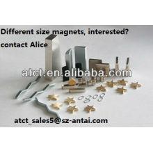 Спеченные подгонянные разного размера неодимовый магнит