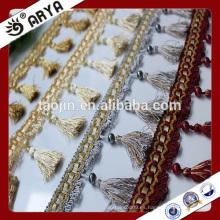 Borla de los productos comunes y franja moldeada para la decoración de la cortina y la otra tela casera