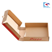 custom size paper pizza box for food packaging with own logo