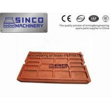 Backenbrecherplatte aus Manganstahl mit hohem Mangangehalt