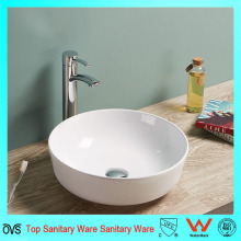 Preço barato Hot Sale Oval Artificial Stone Thin Edge Basin