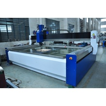 High pressure waterjet cutting machine with metal cutter