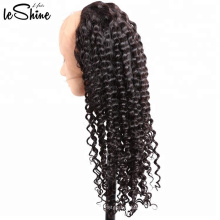 Factory Remy 100% péruvienne Kinky Curly Front Full Lace Wig Fabricant