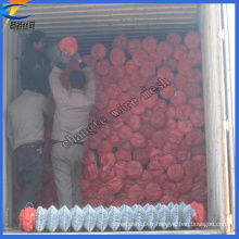 Galvanisé Protective Screening Chain Link Steel Wire Mesh Roll
