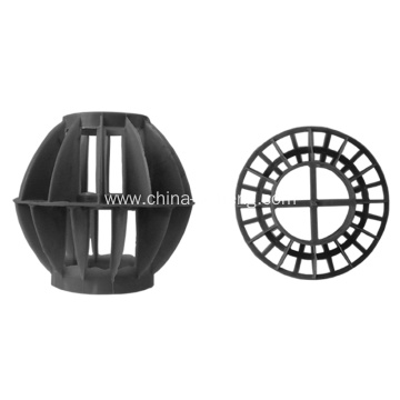PP plastic rosette ring for gas scrubber fillings
