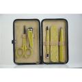 маникюрный набор инструментов кожаный ящик