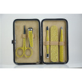 manicure set tools leather box