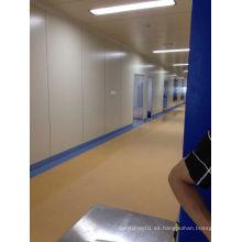 Sitio limpio piso de PVC
