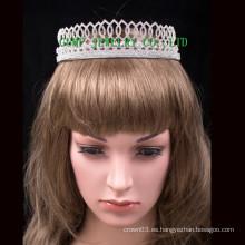 Tiara del metal de las muchachas de la tiara del rhinestone de la corona de la princesa