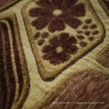 Tissu de colorant de chenille de colorant de polyester pour le sofa