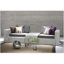 SL-(22) outdoor patio furniture PE rattan sofa cum bed/ sleeper sofa