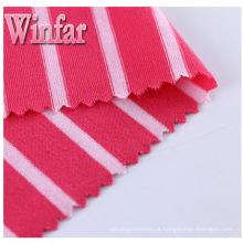 Tela do poliéster do Spandex da tintura de fio de Jersey de matéria têxtil única
