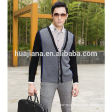 2015 fashion style men's 100% cashmere cardigan