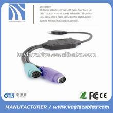 BUENA CALIDAD USB AM A PS / 2 CABLE