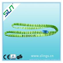 Factor de seguridad 5: 1 2tx1m 100% poliéster Endless Lifting Belt
