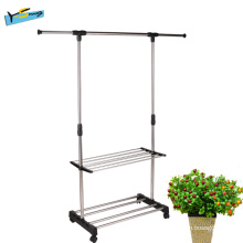 Premium Garment Rack Flexible Stainless Steel Garment Rack
