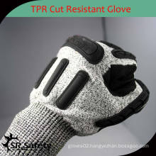 SRSAFETY Good protection safety impact gloves TPR gloves anit impact