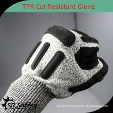 SRSAFETY Хорошие защитные защитные перчатки Перчатки TPR anit impact