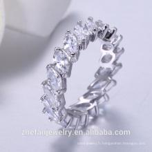 bagues bijoux pour femmes rondes porte-clés coloré diamant pour la vente en gros