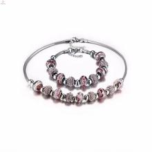 Senhoras casamento 316l charme pulseiras de aço inoxidável colar conjuntos de jóias para as mulheres
