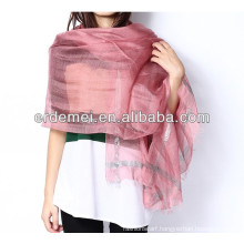 100% polyester silver silk feel india scarf